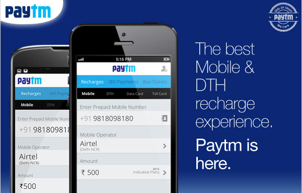 paytm recharges