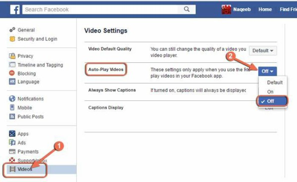 Computer Me Facebook Video Ko Kaise Disable Kare
